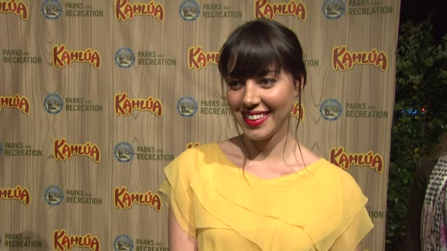 aubrey plaza at the kahlua celebrates the premiere of nbc's 'parks recreation' at hollywood ca - aubrey plaza stock videos and b-roll footage