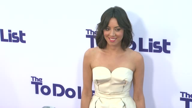 aubrey plaza at 'the to do list' premiere on7/23/13 in los angeles ca - aubrey plaza stock videos and b-roll footage
