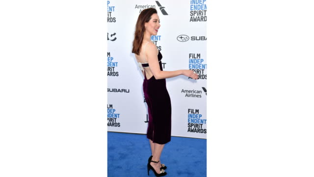 aubrey plaza attends the 2019 film independent spirit awards on february 23 2019 in santa monica california - aubrey plaza stock videos and b-roll footage