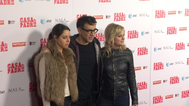 aubrey plaza fred armisen amy poehler at casa de mi padre los angeles premiere on 3/14/12 in los angeles ca - padre stock videos & royalty-free footage