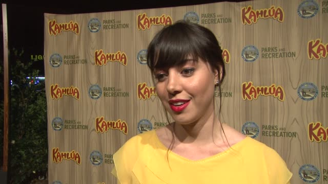 aubrey plaza on if she is nervous for the show's premiere her reaction when she learned she was cast working with amy poehler her character at the... - aubrey plaza stock videos and b-roll footage