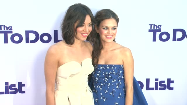 aubrey plaza rachel bilson at 'the to do list' premiere on7/23/13 in los angeles ca - aubrey plaza stock videos and b-roll footage