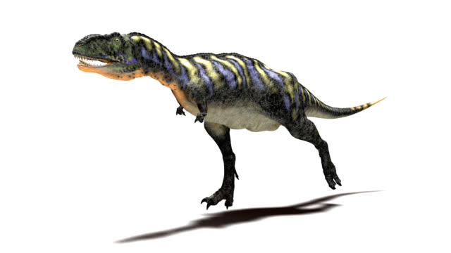 aucasaurus dinosaur running - 恐竜点の映像素材/bロール