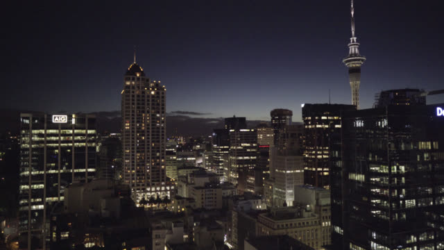 auckland city at night - auckland stock videos & royalty-free footage