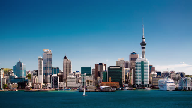 time lapse: auckland city new zealand - new zealand stock videos & royalty-free footage
