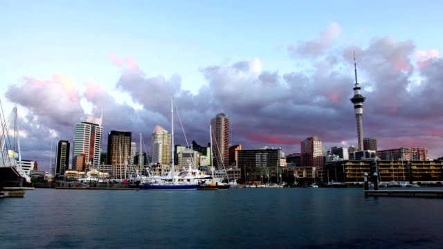 Auckland City Skyline