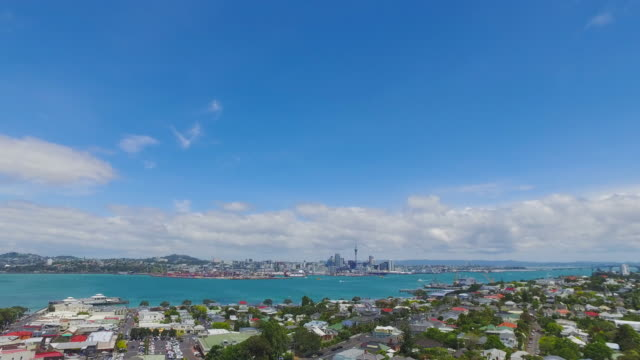 Auckland City Skyline.
