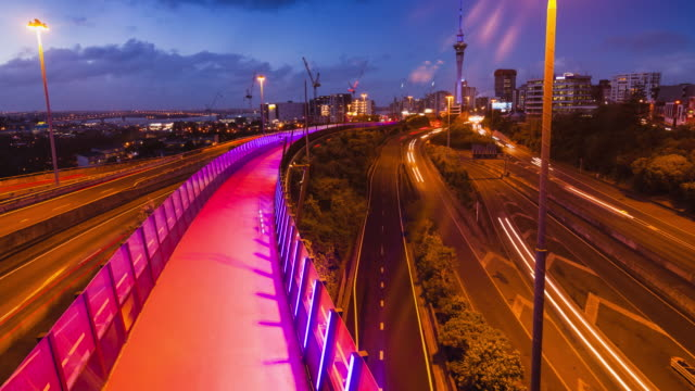auckland city skyline. - mode of transport stock videos & royalty-free footage