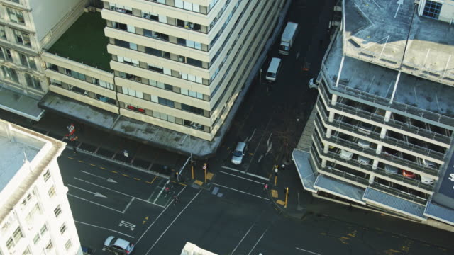 Auckland City Streets from Above