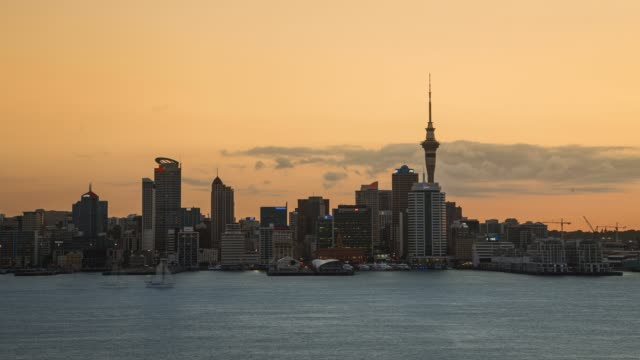 auckland city timelapse - south pacific ocean stock videos & royalty-free footage