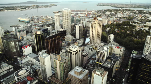 Auckland day to night HD timelapse. New Zealand