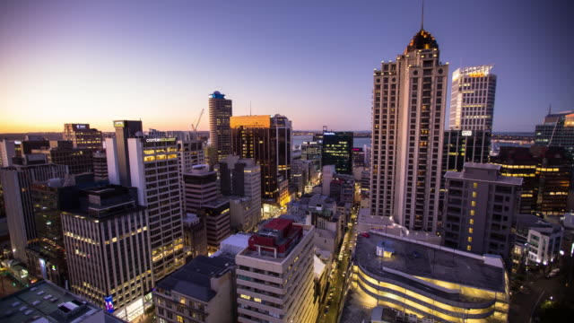 Auckland Evening - Time Lapse