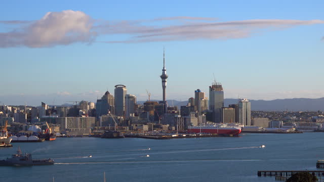 auckland harbour - southern hemisphere stock videos & royalty-free footage
