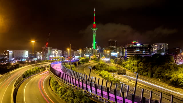 Auckland New Zealand Freeway Time Lapse