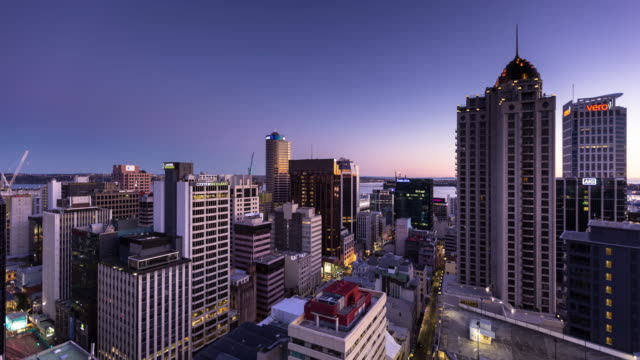 Auckland, New Zealand - Night to Day Time Lapse