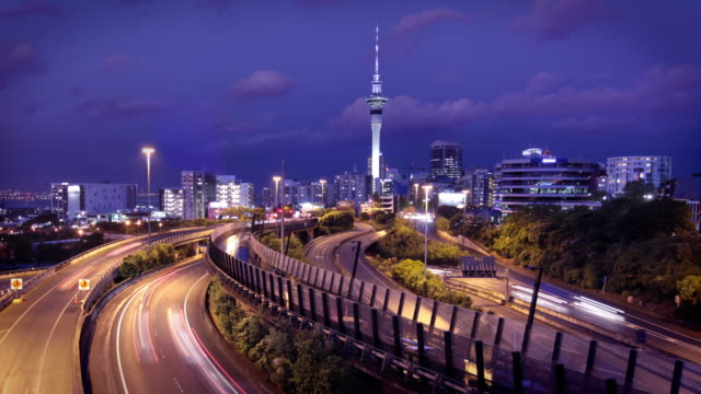 auckland, new zealand - skyline stock videos & royalty-free footage
