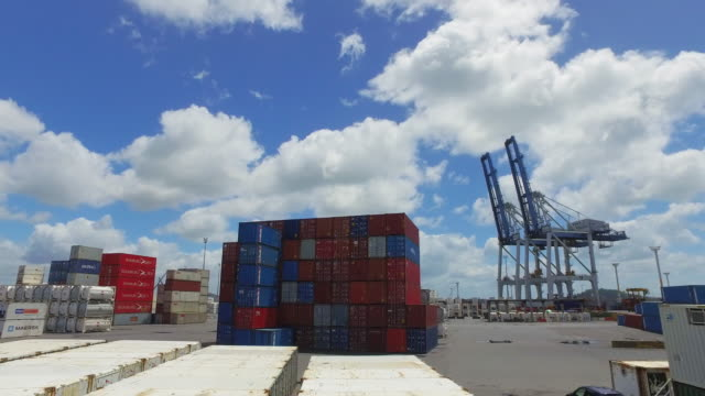 auckland port, auckland, new zealand. - harbour stock videos & royalty-free footage