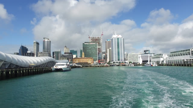 auckland the city, the largest city of north island, new zealand. - waterfront stock videos & royalty-free footage