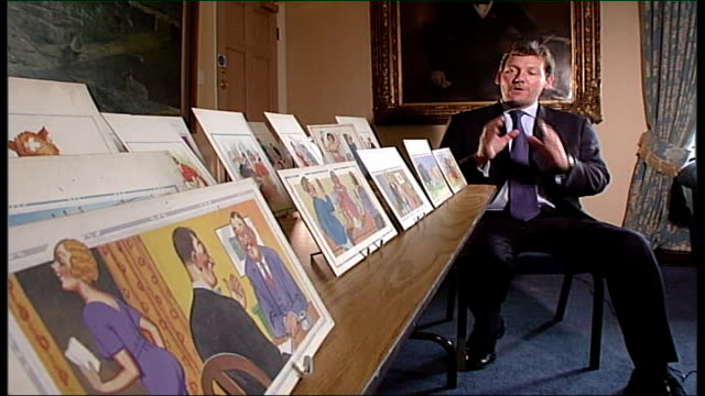 auction of saucy postcards tennants auctioneers int nigel smith interview sot whole seaside ethos has changed / the wonderful thing about them is... - fetishism stock videos & royalty-free footage