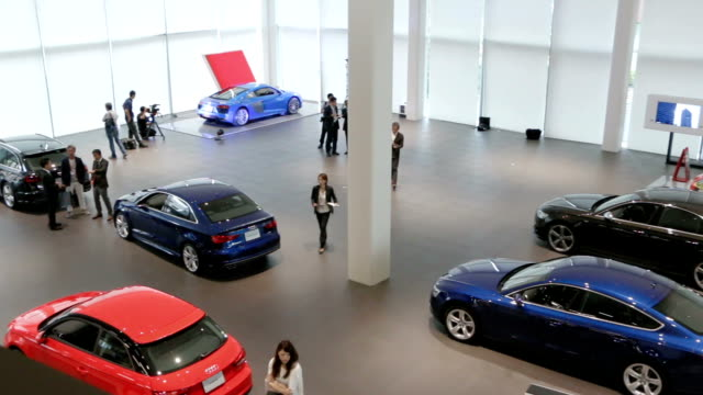 Audi Japan Sales KK president Toru Saito appeared at the firm's flagship showroom in the Minatomirai district of Yokohama on July 5 Japan to announce...