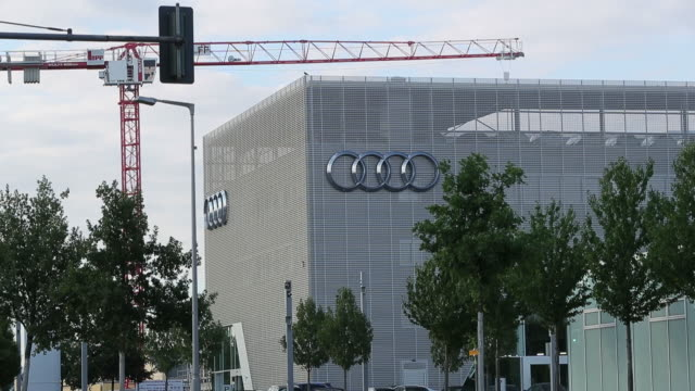 Audi showroom and car tower in Berlin Germany on Tuesday June 19 2018