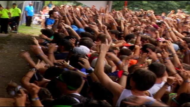 audience at lollapalooza in chicago, illinois - お祭り好き点の映像素材/bロール
