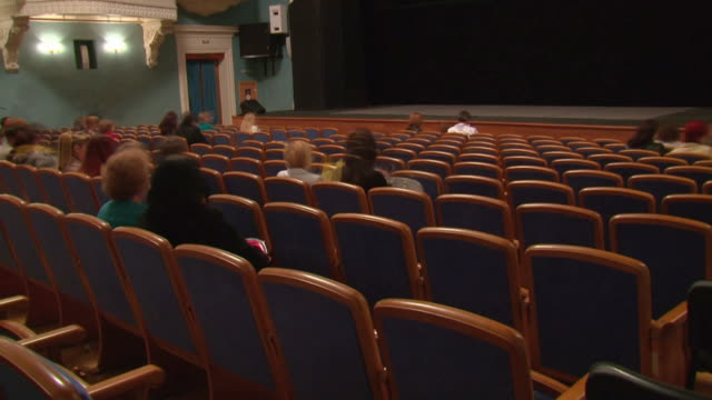 audience in the theater  (timelapse) - concert hall stock videos and b-roll footage