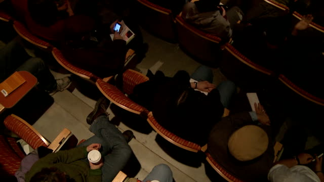 audience in theater claps - overhead view, slow motion - performing arts event stock videos & royalty-free footage