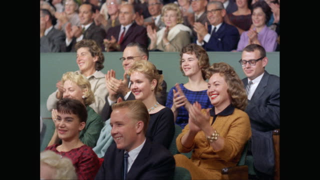 ms audience in theater / united states - 1960 stock videos & royalty-free footage