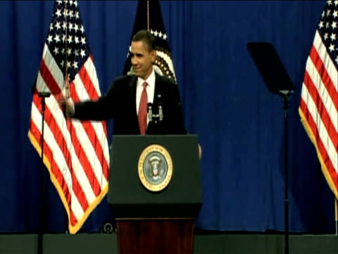 Audience made up of Army cadets and significant members of office applaud President Obama following his keynote speech on new strategies for...