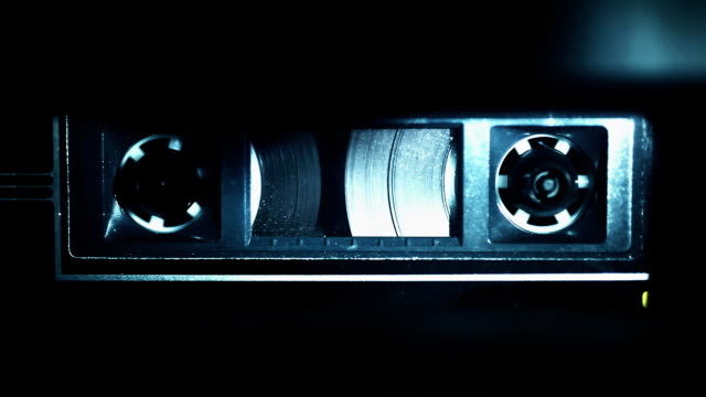 audio cassette tape playing - audio equipment stock videos & royalty-free footage