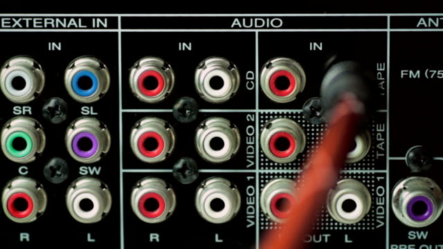 audio jack - electrical plug stock videos & royalty-free footage