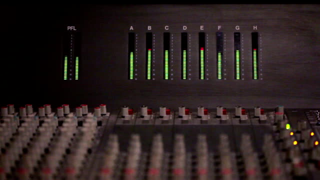 audio level on a mixing console - radio studio stock videos & royalty-free footage