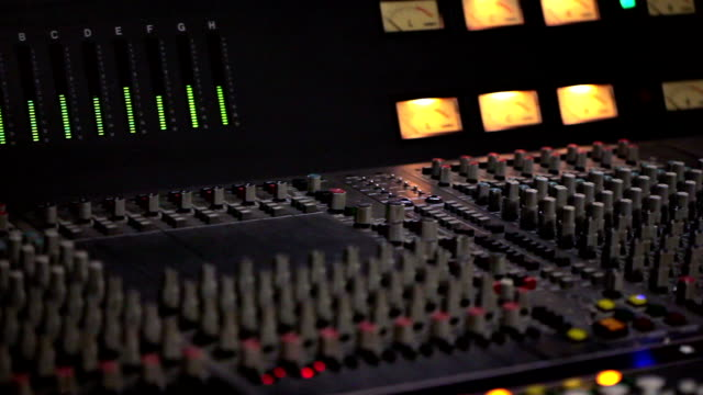 audio level on a mixing console - audio electronics stock videos & royalty-free footage