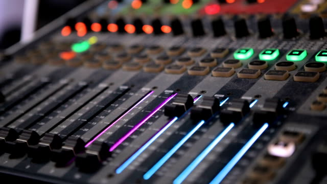 audio mixer in the club - techno music stock videos & royalty-free footage