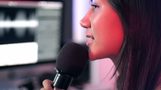 audio mixer, singer working in studio - editor stock videos & royalty-free footage