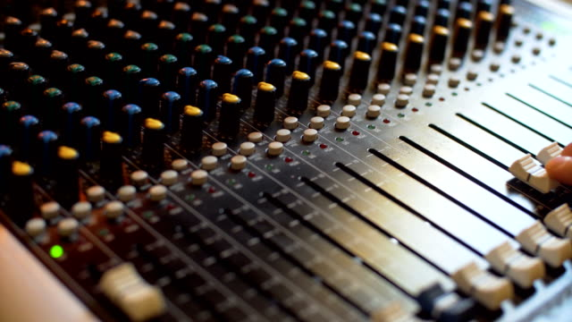 audio mixer - producer stock videos & royalty-free footage