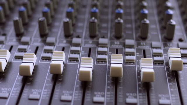 Audio Mixing Board - Slow Pan Shot