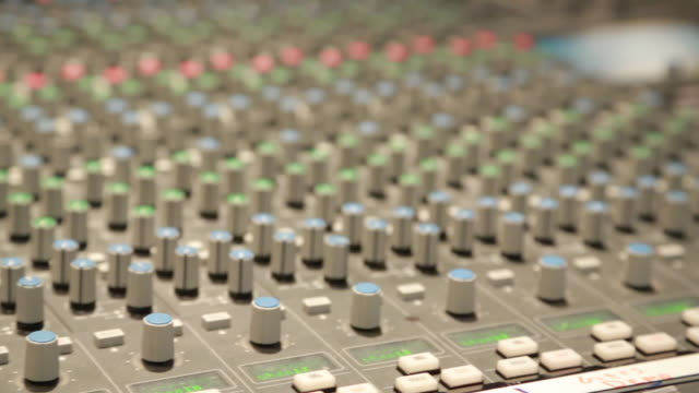 audio mixing console, panning shot - wide shot stock videos & royalty-free footage