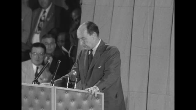 [audio not synchronized] sot democratic party candidate adlai stevenson inflation feeds on fear we know what scarebuying can do inflation will not be... - adlai stevenson ii stock videos and b-roll footage