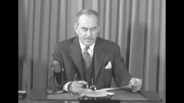 [audio not synchronized] us secretary of state dean acheson speaks of the korean war and chinese aggression sot an act of brazen aggression has taken... - 満州地方点の映像素材/bロール