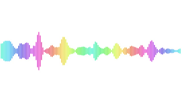 audio rainbow spectrum - wave pattern stock videos & royalty-free footage