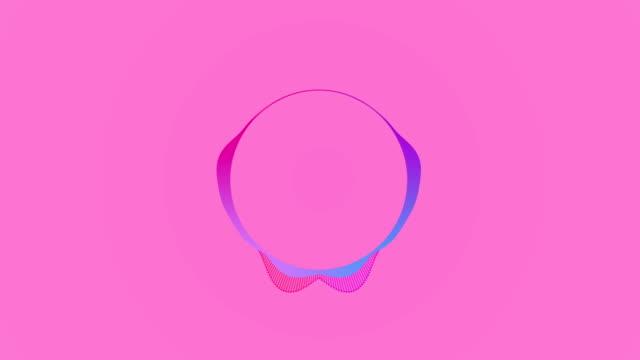 vídeos de stock, filmes e b-roll de animação 4k audio spectrum - fundo cor-de-rosa - fundo rosa