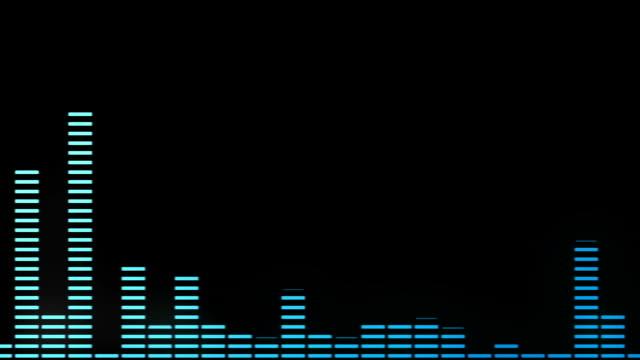 vidéos et rushes de vague de spectre audio - but égalisateur