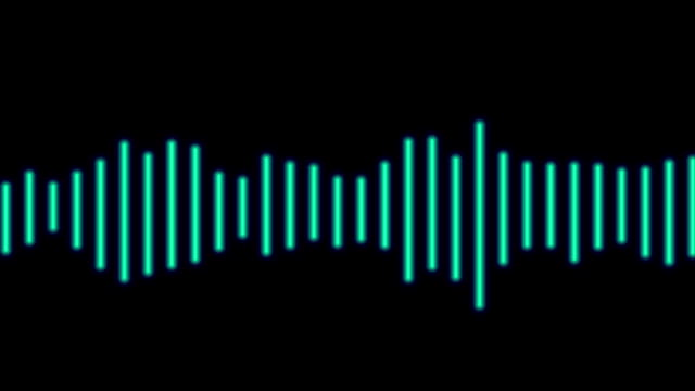 Audio spectrum waveform