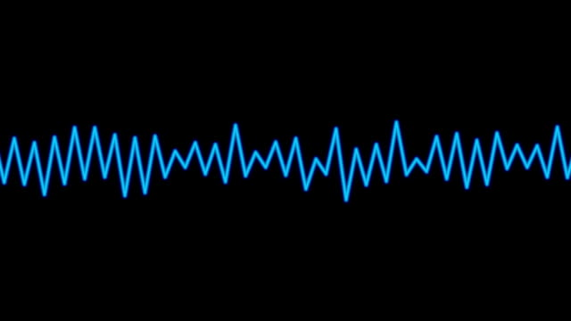 Audio spectrum waveform