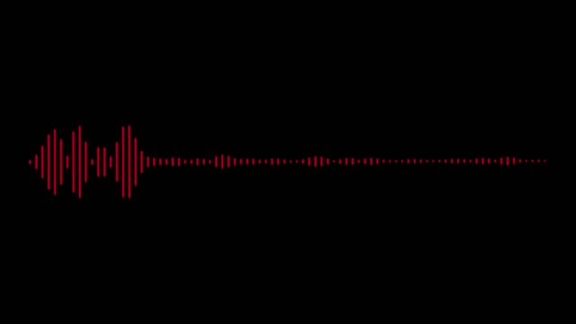 audio wave on black background - wave pattern stock videos & royalty-free footage