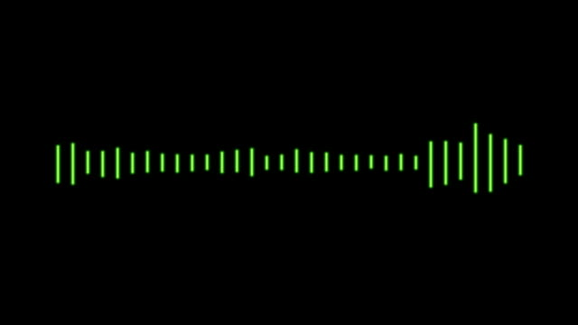 audio waveform animation - sound wave stock videos & royalty-free footage