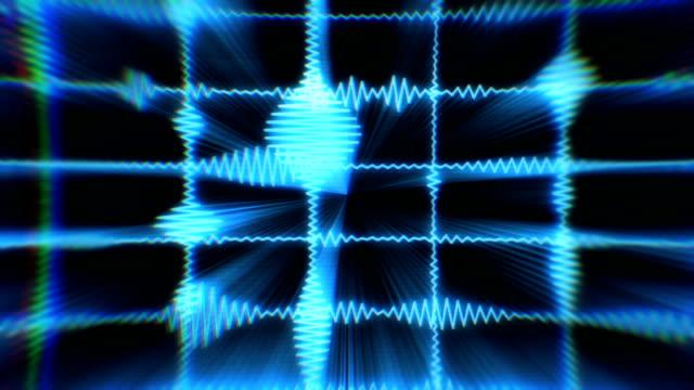 オーディオ波形等価剤 - 視覚表示用器材点の映像素材/bロール