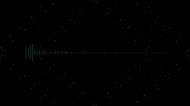 audio waveform mono blue - oscilloscope stock videos & royalty-free footage